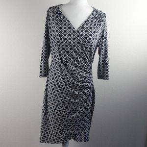 Expected by Lilac Navy Print Maternity Dress